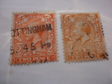 George V 2 Pence Stamps
