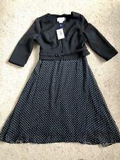 Seraphine Black Silk and Ponte Maternity/Nursing Dress