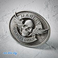 Harley Davidson, NEW for 2015 Harley Owners Group HOG, Winged Skull Belt Buckle