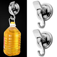 2Pcs Strong Heavy Duty Hooks Hanger Suction Cup Wall Hanging Bathroom Kitchen