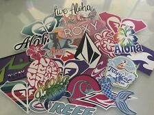 Surf Sticker Pack - Surfer Girl Rip Curl Quicksilver Volcom Roxy Rusty Billabong