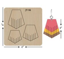 Leather  Earring Cutting  Die / Sizzix Compatible - JT94