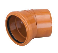 Marley 110mm Underground Sewer Drainage Single Socket 30º Pipe Bend UB430R