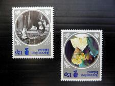 ASCENSION ISLAND 1985 Queen Mother 12p & 15p INVERTED/WMK U/M SALE PRICE FP4130
