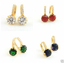 Cubic Zirconia Drop/Dangle Handmade Yellow Gold Filled Fashion Earrings