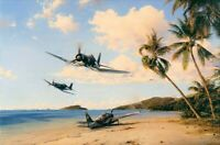 Beach Head Strike Force by Robert Taylor - Signed by iconic Corsair Aces
