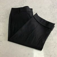Theory 4 Abby Bermuda Shorts New Coal Grey Wool Cuffed Above Knee 60771210