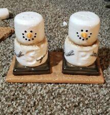 Smores Original S'mores Christmas Ornaments Ceramic Salt & Pepper Shaker Set