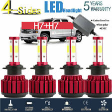 4Side 360° H7+H7 Led Headlight Hi Low Beam Bulb 240W 64000Lm Canbus Error Free