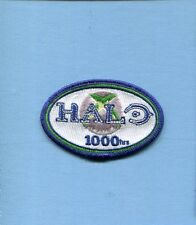 1000 HOURS HALO 1 2 3 COMBAT VIDEO GAME PLAYER SQUADRON Hat Jacket Patch