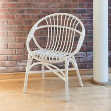 Oval Hand Crafted Woven Wicker Cane Bedroom Chair