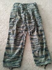 VTG US ARMY MILITARY TIGER PANTS TROUSERS FIELD L MEN RIPSTOP CAMO JUNGLE