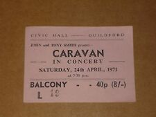 Caravan 1971 Guildford Concert Ticket