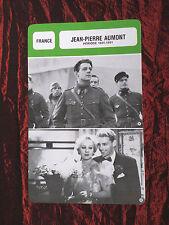 JEAN-PIERRE AUMONT - MOVIE STAR - FILM TRADE CARD - FRENCH - #1