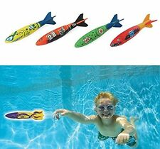 Edealing toypedo bandits rocket swimming pool toy diving game - set of 4