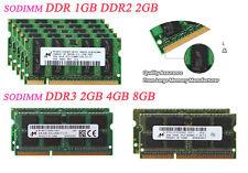 Micron DDR2 8G 8GB 4GB 2GB PC2 5300 6400 DDR3 800 1333MHz Laptop Memory RAM Lot