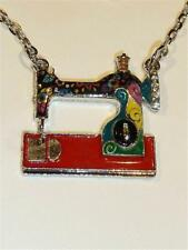 Colourful Enamelled Necklace of a Sewing Machine - FREE UK P&P.....CG1792