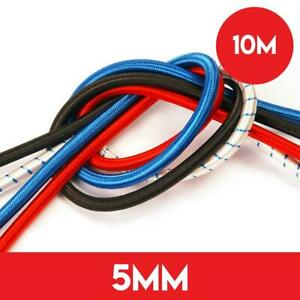 10m of 5mm Shockcord Elastic Bungee Rope - Black