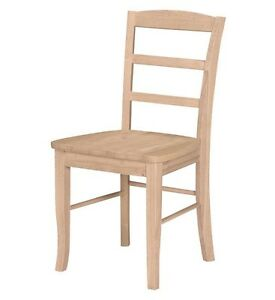 Ladder Back Unfinished Chair (Rustic solid wood kitchen Dinning Chiairs