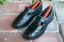 SAS Tripad Comfort Black Leather Women's Mary Jane Loafers Shoes Size 7.5