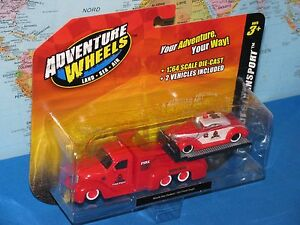 MAISTO ADVENTURE WHEELS MISSILE TOW FLATBED / 1937 FORD COUPE *BRAND NEW & RARE*