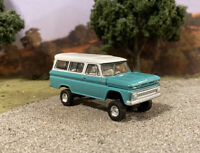 1965 Chevy Suburban 4x4 Lifted Custom 1/64 Diecast Truck Off Road 4WD Customized