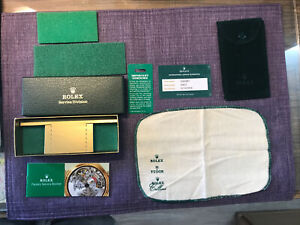 Rolex Service Box Set. Including card;booklet;cloth;pouch