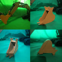 Pour 1/14 HuiNa 580 550 592 RC Excavator Metal Simulation Bucket w/Screws Kit