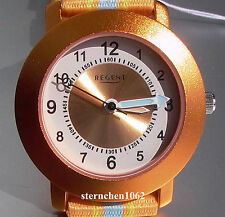 Regent * Kinderuhr *  Ref. 12400248 * orange/blau * Quarz *  *