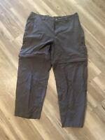 Columbia GRT Omni Dry Pants Shorts Detachable Convertible Men's Size L Gray