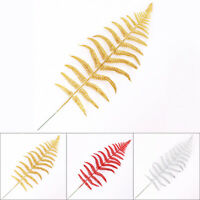 10pcs Christmas Glitter Fern Leaves Xmas Wreath Garland Tree Decoration G5S