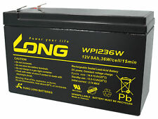 Kung Long Blei Akku 12V 9Ah WP1236W hochstrom Bleigel AGM USV 7,2Ah, 7Ah, 8Ah