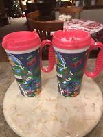 Disney Parks Pixar Buzz Lightyear Set Of 2 Travel Resort Whirley Drink Mug Cup