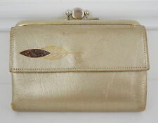 MCM Wallet Gold Princess Gardner Leather Mid Century French Kisslock Vintage 60s