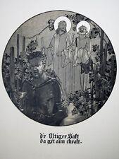 """c71-33 Gravure contes & récits d'Alsace - """"un cru du Sundgau"""" - Spindler"""