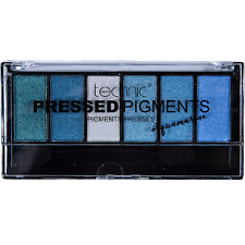 TECHNIC PRESSED PIGMENTS AQUAMARINE EYESHADOW PALETTE 6 SHADES NEW SEALED