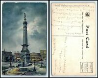INDIANA Postcard - Indianapolis, Soldiers & Sailors Monument At Night G46