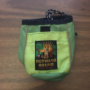 Outward Hound Pet Travel Gear Green Vintage treat bag Training Small