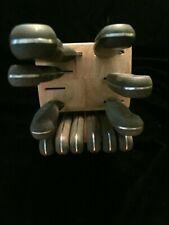Vintage Chicago Cutlery Kitchen Knife Set Block 12 Pc Piece