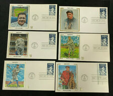 1983 VINTAGE ORIGINAL BABE RUTH FIRST DAY COVER LOT (6)