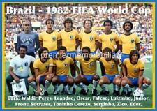 BRAZIL 1982 WORLD CUP FINALS SOCRATES ZICO EDER JUNIOR FALCAO LEANDRO A4 PRINT