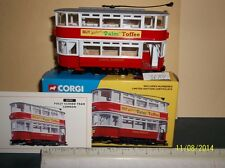 "CORGI ""LONDON TRANSPORT"" CLOSED TOP DOUBLE DECKER TRAM #36701 NIB"