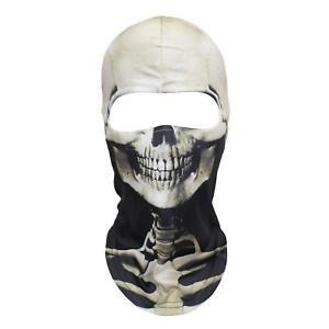3D Skeleton Mask Scary Balaclava Headwear Cosplay Costume Halloween Prop