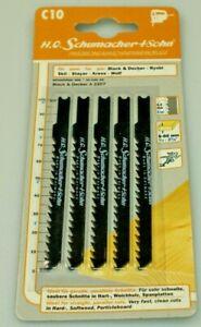 German High Quality Jigsaw Blades C10 75mm x 4mm Pack of 5
