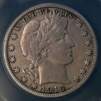 1914-P Barber Half Dollar- Full LIBERTY! ANACS certified Low mintage date!