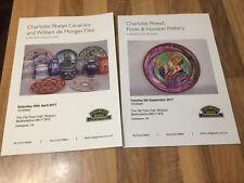 Charlotte Rhead Auction Catalogues x 2: 2017 Sales with William de Morgan Tiles