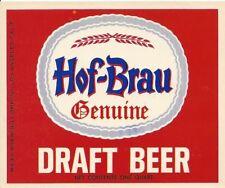 Hof-Brau Beer, Maier Brewing, Los Angeles, California Vintage Paper Beer Label