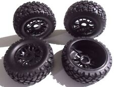 17mm hex Short Course truck 1/10 wheel & tyre set of 4 fits Traxxas Slash HPI