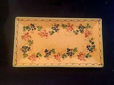 "Vintage Terre e Provence Pottery France Stoneware Pottery Long 14"" Platter"