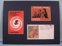 James Stewart in Alfred Hitchcock's Vertigo & Kim Novak Commemorative Envelope